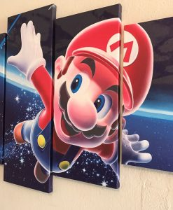Quadro super mario bros nintendo canvas