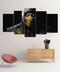 Quadro Scorpion de Mortal Kombat! Tenha o quadro decorativo do personagem do game!
