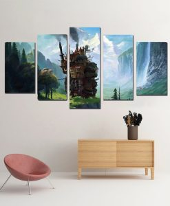 Castelo Animado - Quadro Canvas Decorativo Animes