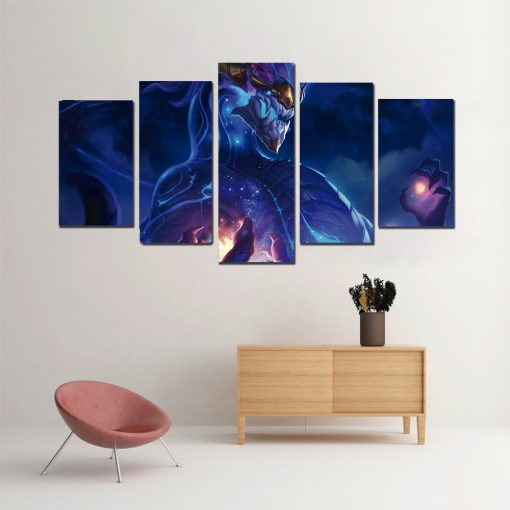 quadro aurelion sol League of legends canvas 5 peças